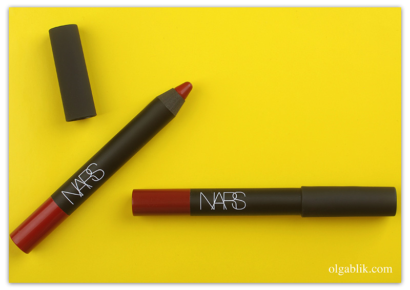NARS Consuming Red и Infatuated Red Velvet Matte Lip Pencil, матовая помада карандаш Нарс, Отзывы, Фото