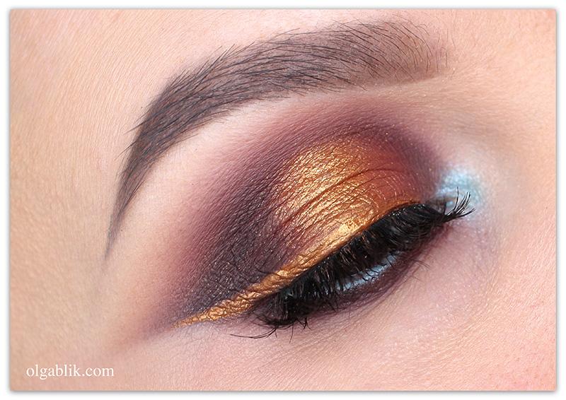 Как сделать цветную подводку для глаз из теней
