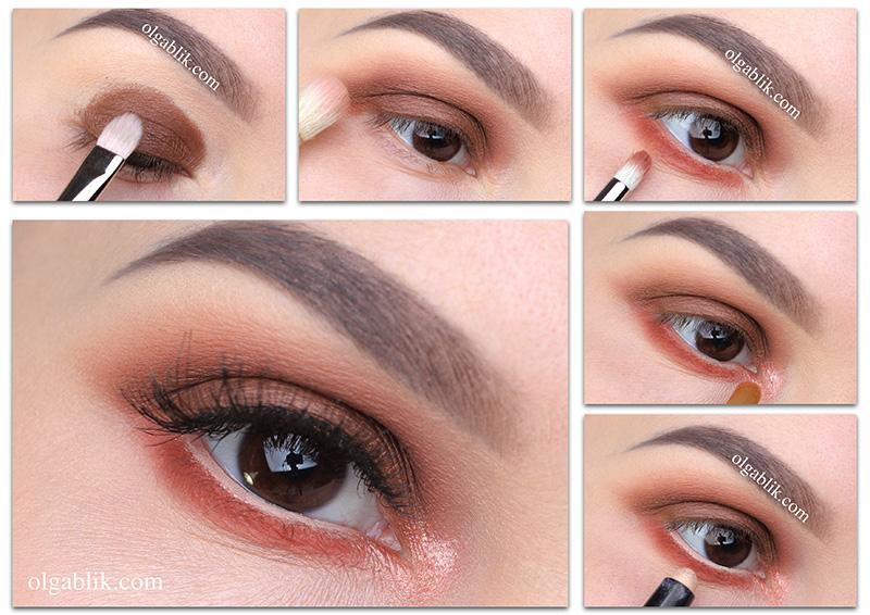макияж в оранжевых тонах
