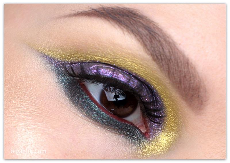 Makeup Look ColourPop Eyeshadow, Цветной макияж, Фото