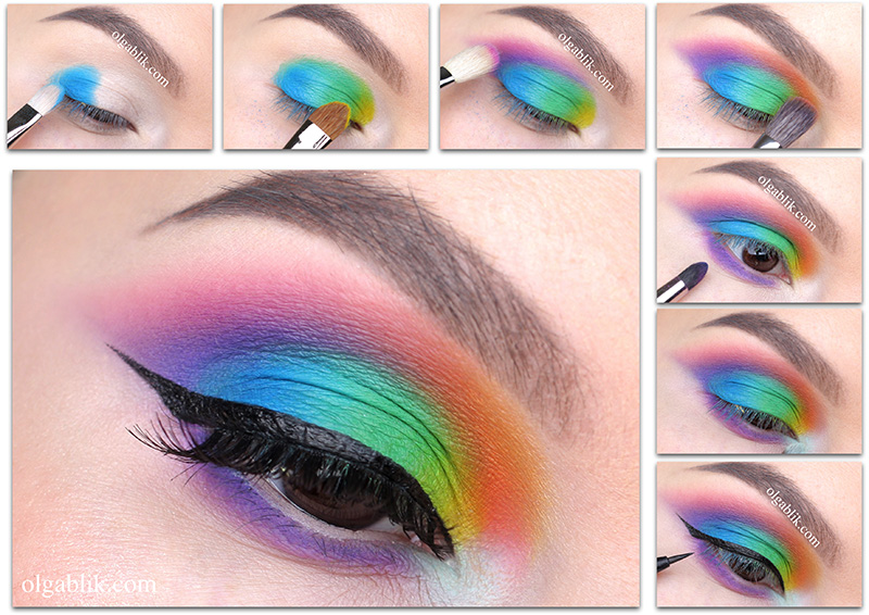 Как красить глаза цветными тенями