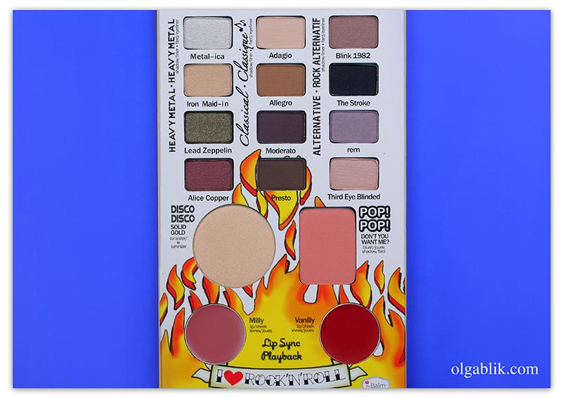 theBalm Balm Jovi Rockstar Face Palette, отзывы, фото, свотчи, makeup, review, photo