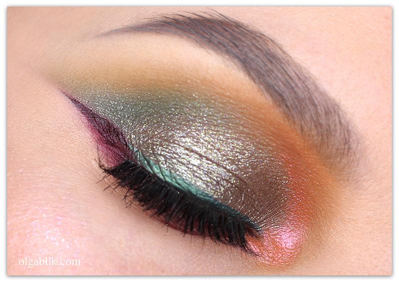 Bordeaux Eye Makeup Look, Бордовый макияж, Фото