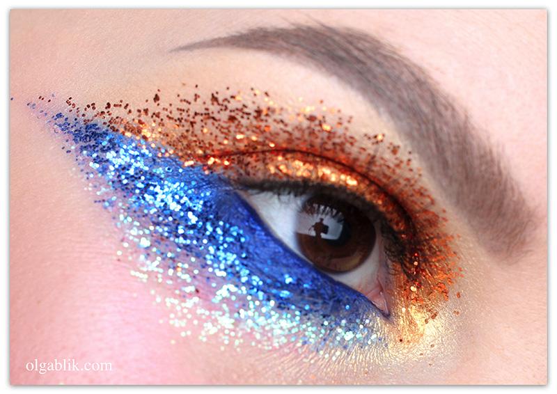 Как красить глаза глиттером