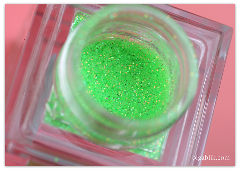 Make Up Store Glitter Neon Green, Глиттер, Блестки для макияжа глаз, Отзывы, Фото