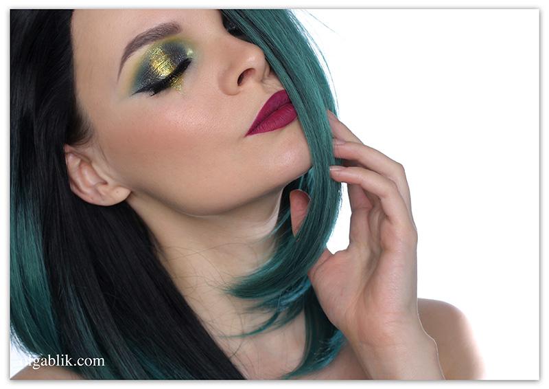 Макияж к цветным волосам