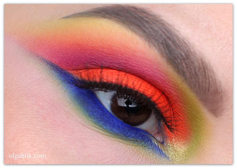 Colorful Makeup Look, Цветной макияж глаз, фото, Стрелки