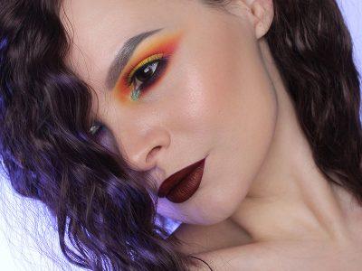 Многоцветный макияж