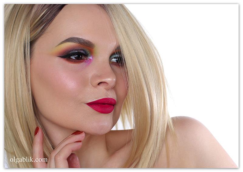 Цветной макияж глаз, Фото, Colorful Makeup
