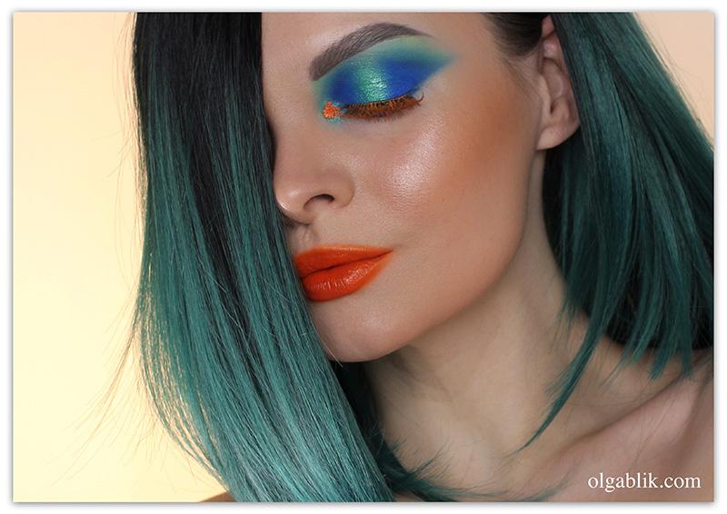 the-smudged-lipstick-makeup-look, растушеванная помада, цветные ресницы