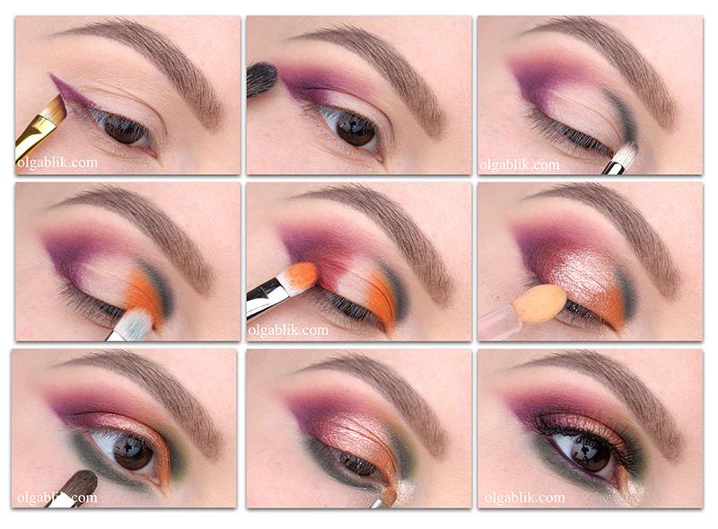 макияж без стрелок для карих глаз
