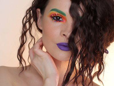 Праздничный макияж с ресницами handmade!