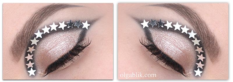 Звездочки в макияже глаз
