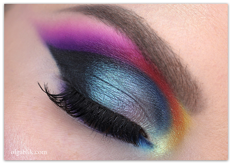 Purple Smoky Eyes Makeup-01, Цветный Smoky Eyes, Макияж, фото