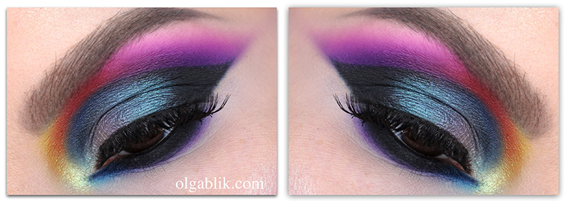 Purple Smoky Eyes Makeup, Цветный Smoky Eyes, Макияж, фото