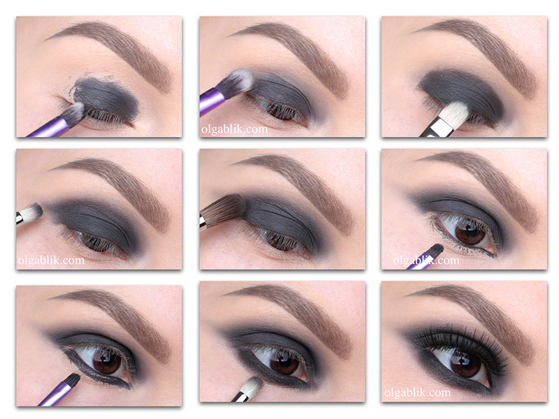 Smoky eyes Makeup Tutorial, Как сделать смоки айс, Пошагово фото инструкция