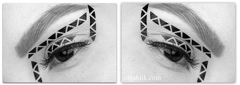 Геометрия в макияже