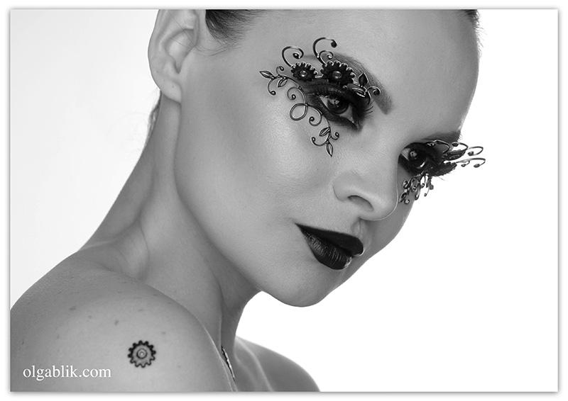 Декоративный макияж глаз 3D