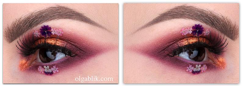 Flower_eye_makeup, макияж с цветами, фото, смоки айс