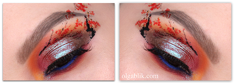 #7days_of_Flower_eye_makeup, макияж с цветами, фото