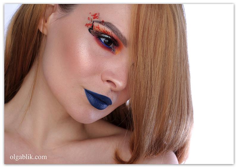 Wycon Cosmetics Liquid Lipstick 33 Blu Scuro, стойкая помада, отзывы, фото