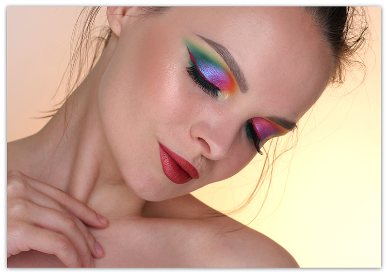 Colorful Smoky eyes Makeup Look, Цветной смоки айс