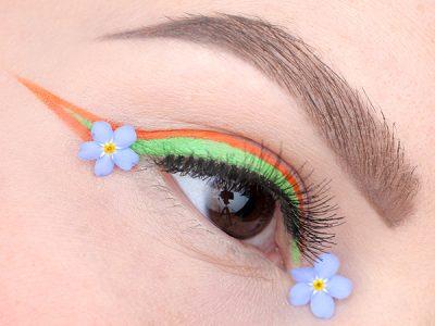 #7days_of_Flower_eye_makeup: цветочные стрелки