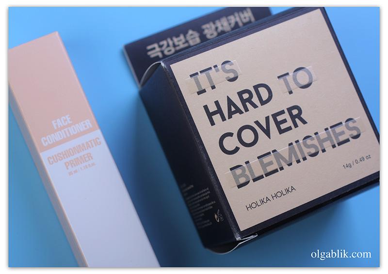 Увлажняющий кушон Holika Holika Hard Cover Glow Cushion Set 02 Petal, отзывы, фото