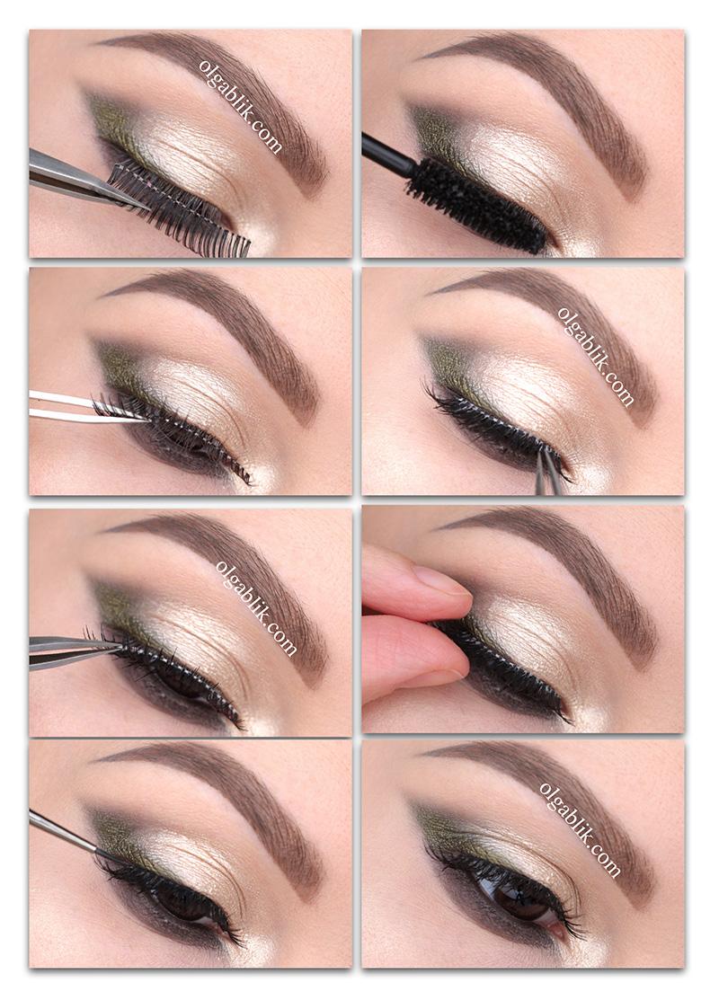 how-to-apply-false-eyelashes, как клеить накладные ресницы пошагово фото инструкция