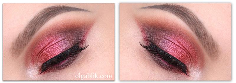 Розовый макияж для карих глаз
