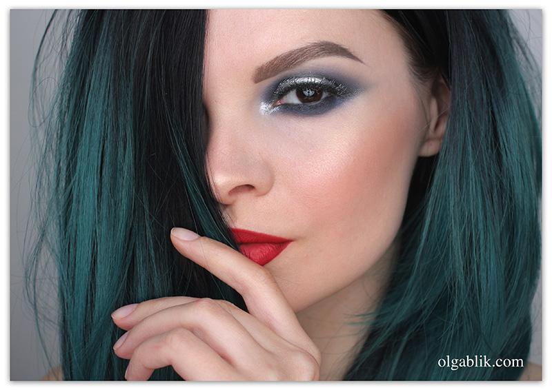 Natasha Denona Eyeshadow Palette 28 Purple Blue, Серые Смоки айс, Макияж глаз, Фото