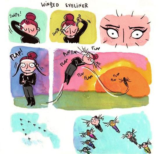 winged eyeliner, как рисовать стрелки, фото