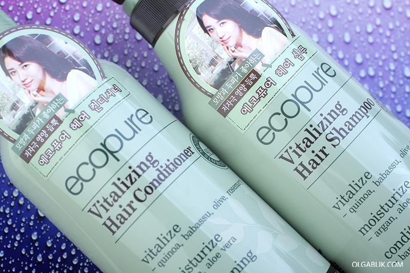 ECOPURE VITALIZING HAIR SHAMPOO, корейский уход за волосами, отзывы, фото