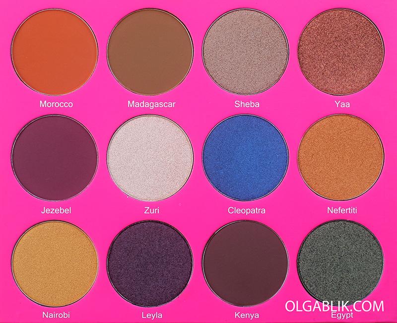 Juvia's Place The Nubian II Eyeshadow Palette, отзывы, фото, где купить, макияж