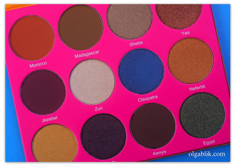 Juvia's PlaceThe Nubian 2 Eyeshadow Palette, фото, тени, отзывы, где купить