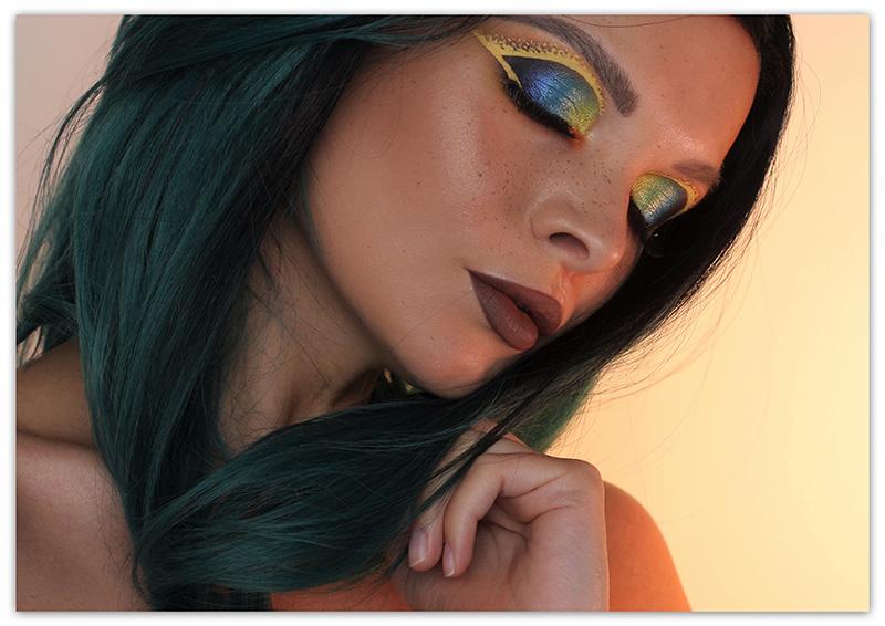 Colorful Liner Makeup Look, Цветные стрелки, Летний макияж 2017