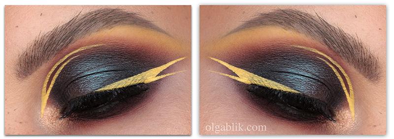 Winged liner Fall makeup, осенний макияж 2018, фото, осенние смоки айс