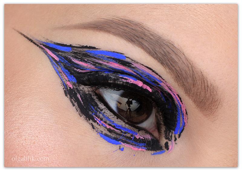How To Create A Smokey Eye Using Only Eyeliner, цветный стрелки, подводка Никс
