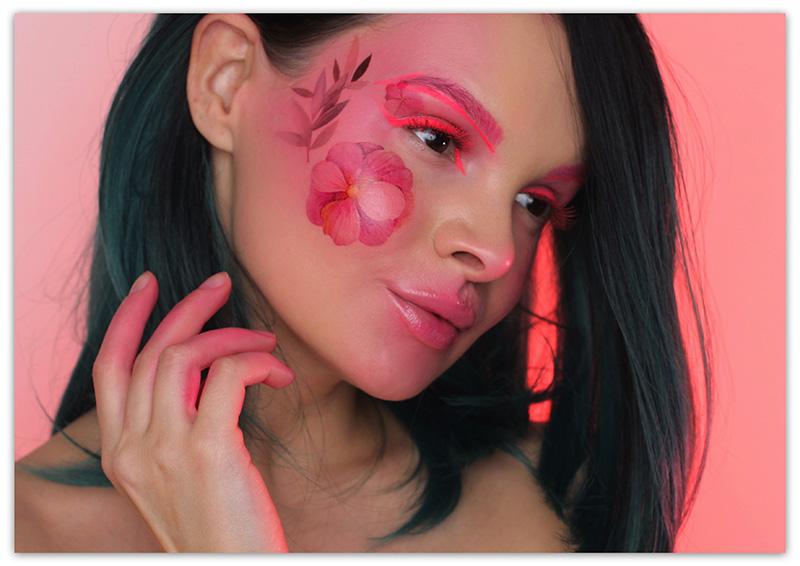 Makeup Flower Garden, макияж с цветами