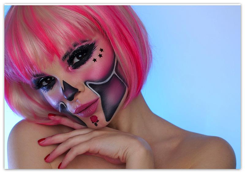 Sugar Skull Barbie, Макияж Барби на Хэллоуин, фото