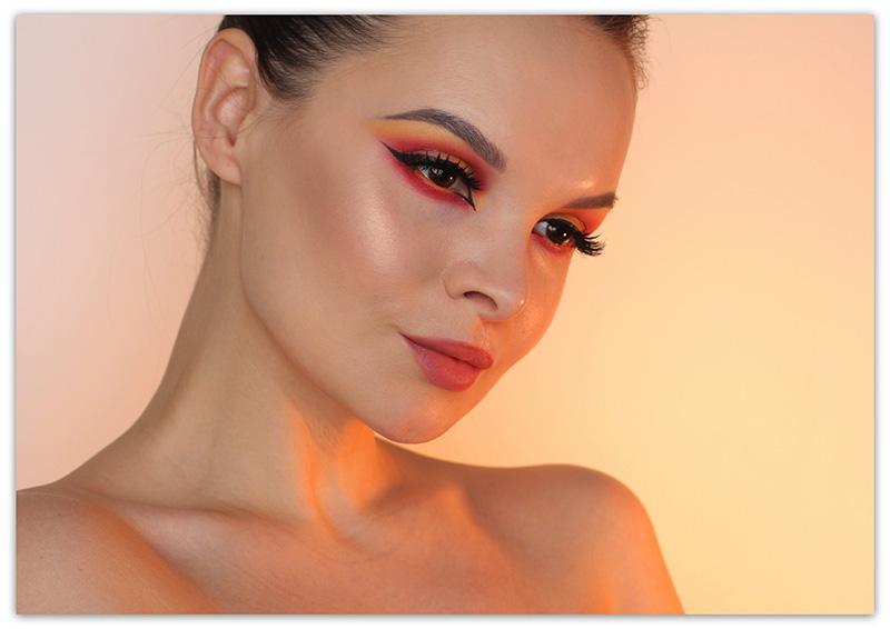 Natasha Denona Sunset Palette Makeup Tutorial, макияж с палеткой Наташа Денона
