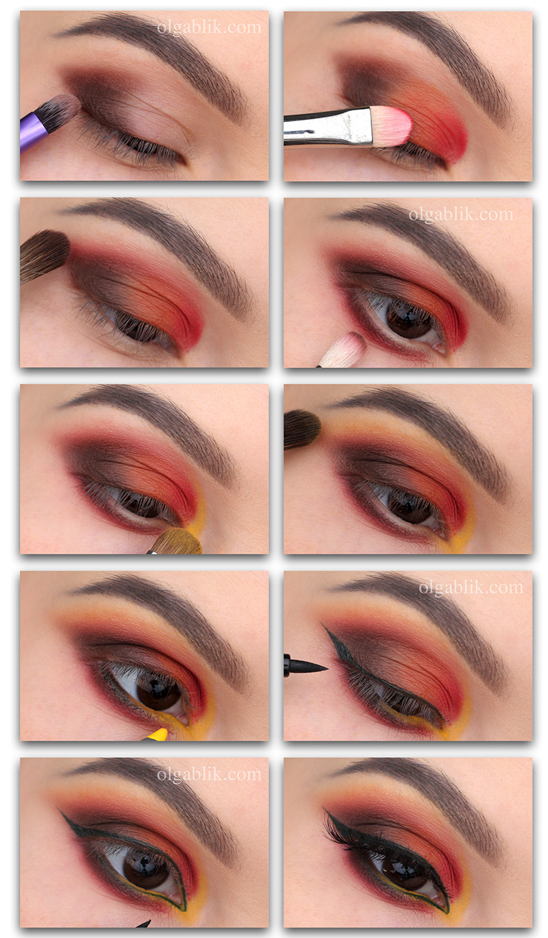 Natasha Denona Sunset Palette Makeup Tutorial, осенний макияж 2018, фото