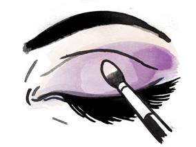 Как наносить тени на глаза