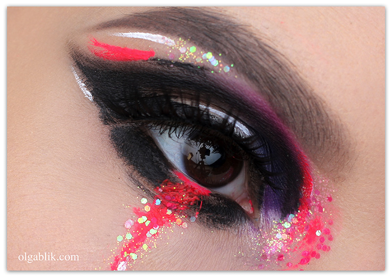 Creative Makeup New Year's Look, Креативный макияж на Новый год, Новогодний креативный макияж
