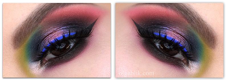 Glam Rock Smokey Eyes, макияжсмоки айспошаговая инструкция, смоки айспошагово, смоки айстехника нанесения