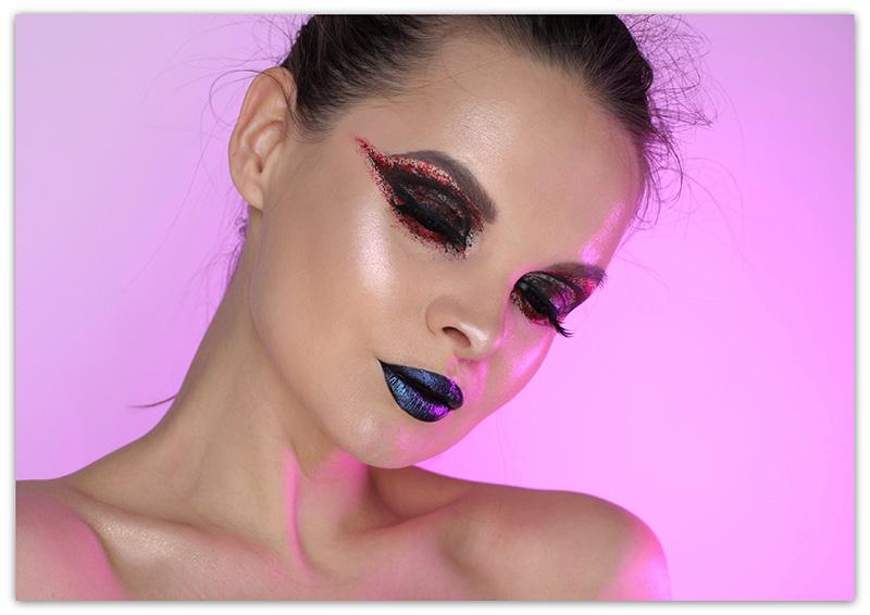 Как сделать макияж на Хэллоуинв технике Смоки Айс