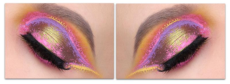 Макияж с Nyx Vivid Brights, Цветная подводка для глаз никс, Подводка Nyx Vivid Brights, Креативный макияж с Nyx Vivid Brights, Купить Nyx Vivid Brights