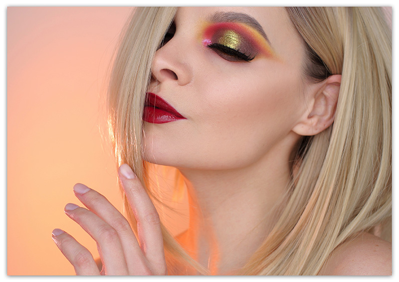 Макияж в цветах заката, Модный макияж 2018-2019, Макияж закат
