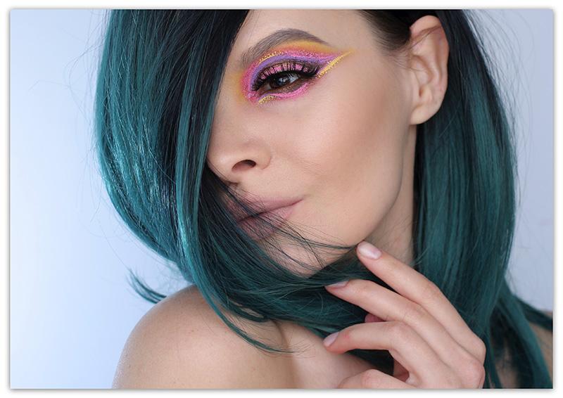 Макияж с Nyx Vivid Brights. Цветная подводка для глаз никс, Подводка Nyx Vivid Brights, Креативный макияж с Nyx Vivid Brights, Купить Nyx Vivid Brights