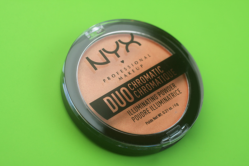 NYX Duo Chromatic Illuminating Powder, отзывы, хайлайтер Nyx